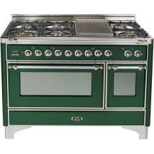 Emerald Green with Chrome trim - Majestic 48-inch Range with Griddle