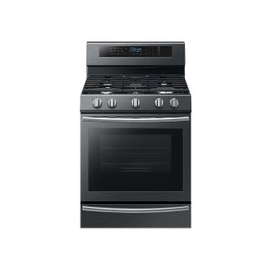 Samsung Appliances5.8 cu. ft. Freestanding Gas Range with True Convection and Steam Reheat in Black Stainless Steel
