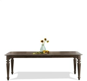 Verona Rectangular Leg Dining Table Dark Sienna finish