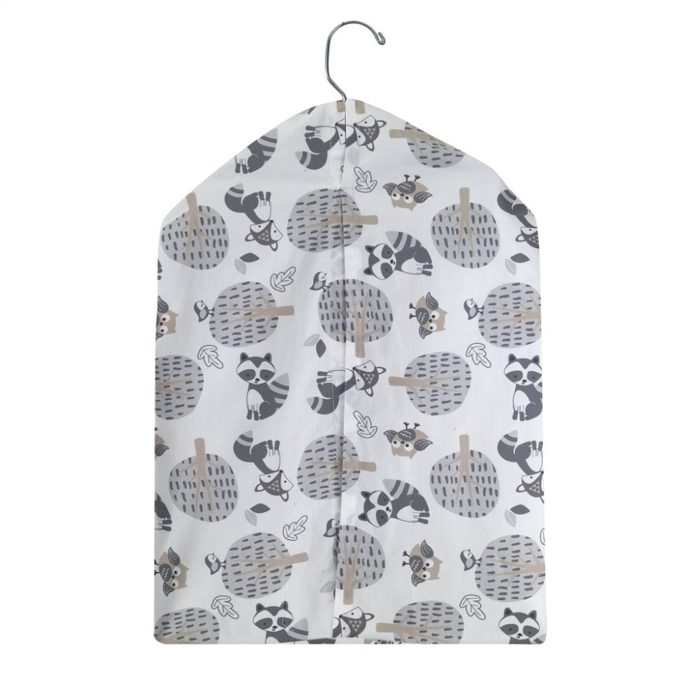 Little Rascals Gray/White Fox, Raccoon, and Owl Diaper Stacker