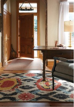 Vintage-Oak Red Hand Knotted Rugs