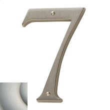 Satin Nickel with Lifetime Finish House Number - 7