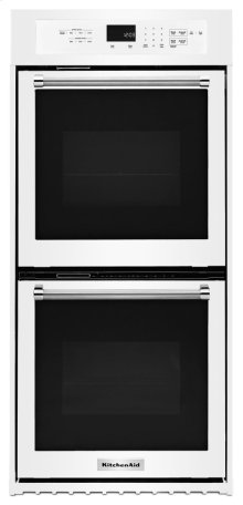 """24"""" Double Wall Oven with True Convection - White"""