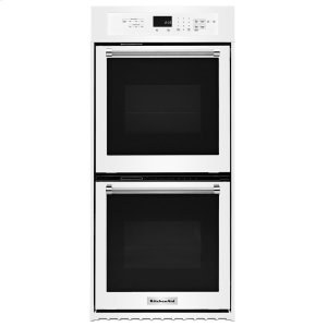"KitchenAid24"" Double Wall Oven with True Convection - White"
