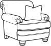 Bay Bridge Fabric Chair without Nailhead Trim