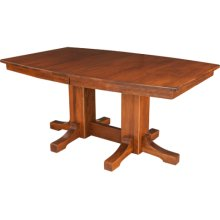 Frederick Double Pedestal Table Self Storing