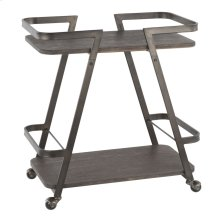 Seven Bar Cart - Antique Metal, Espresso Bamboo