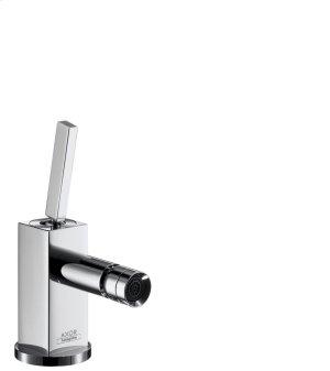 Chrome Single lever bidet mixer with pop-up waste set Product Image