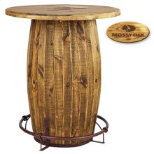 Reclaimed Brown Barrel Bar