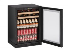 """1000 Series 24"""" Beverage Center With Integrated Frame Finish and Field Reversible Door Swing"""