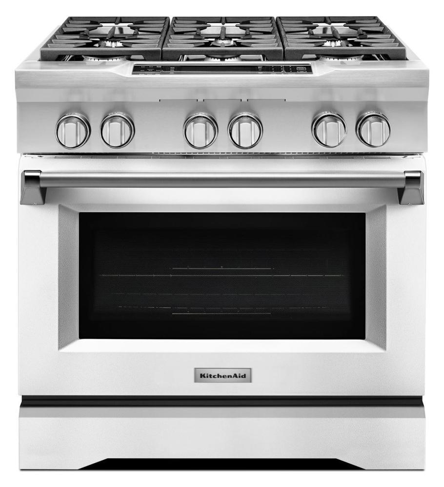 Wonderful KitchenAid® 36 Inch 6 Burner Dual Fuel Freestanding Range, Commercial Style
