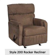 Sienna Chocolate 200RCL - Rocker Recliner