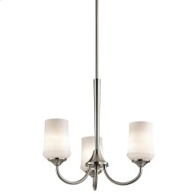 Aubrey Collection Aubrey 3 Light Chandelier - Brushed Nickel NI