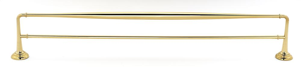 Charlie's Collection Double Towel Bar A6725-30 - Polished Brass