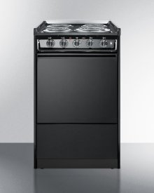 "20"" Wide Slide-in Electric Range In Black With Lower Storage Compartment; Replaces Tem115r"