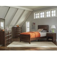 Greenough Transitional Maple Oak Twin Four-piece Set