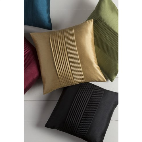 "Solid Pleated HH-013 22"" x 22"" Pillow Shell Only"