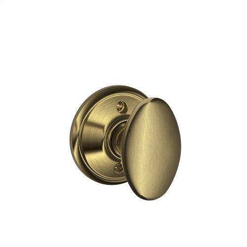 Siena Knob Non-turning Lock - Antique Brass