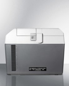 Portable 12v/24v Medical Cooler Capable of Operating At -18 c or Standard Refrigerator Temperatures, With Lock and Collapsible Trolley