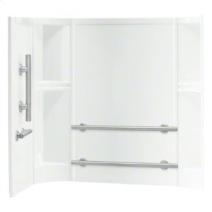 "Accord® 60"" x 30"" x 55"" Smooth Wall Set with Grab Bars - White Product Image"