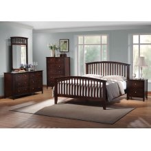 Tia Cappuccino Queen Five-piece Bedroom Set