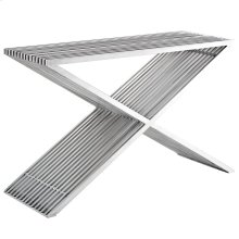 Press Stainless Steel Console Table in Silver
