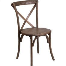 Stackable Early American Wood Cross Back Chair