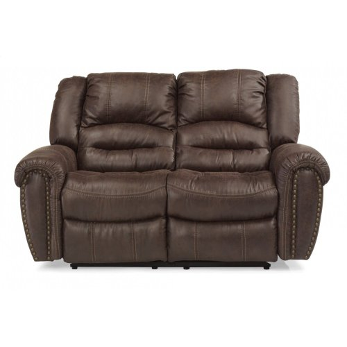 Downtown Fabric Power Reclining Loveseat with Power Headrests