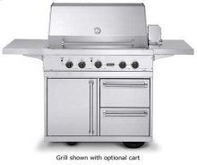 "Stainless Steel 41"" Ultra-Premium T-Series Grill - VGBQ (41"" wide with three standard 25,000 BTU burners (Natural Gas))"