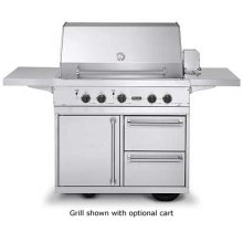 "Stainless Steel 41"" Ultra-Premium T-Series Grill - VGBQ (41"" wide with three standard 25,000 BTU burners (LP/Propane))"
