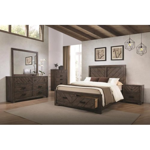 Lawndale Rustic Weathered Grey Eastern King Four-piece Set