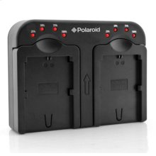 Polaroid Double (Dual) Battery Charger for Select Panasonic Batteries (PL-CH2PN18)