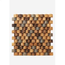 Grand Terrace Wood Mosaic - Multicolor (15.75X15.75X0.98) = 1.72 sqft