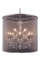"""1131 Brooklyn Collection Chandelier D:31.5"""" H:28"""" Lt:12 Dark Grey Finish (Royal Cut Crystals) Product Image"""