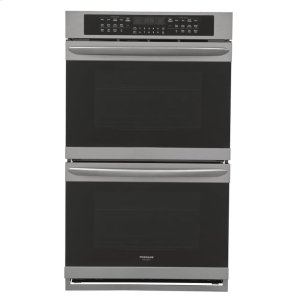 Gallery 27'' Double Electric Wall Oven - BLACK STAINLESS STEEL