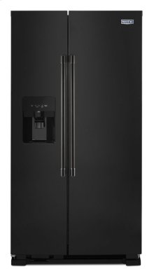 36-Inch Wide Side-by-Side Refrigerator with Exterior Ice and Water Dispenser - 25 Cu. Ft.