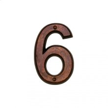 """6"""" House Number - HN606 Silicon Bronze Brushed"""