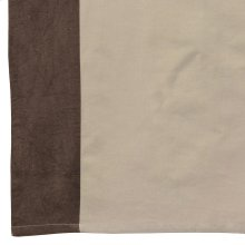 Harlow Choc Tab Top 42x84 55%cotton/45% Linen NATURAL W/ CHOC BORDER