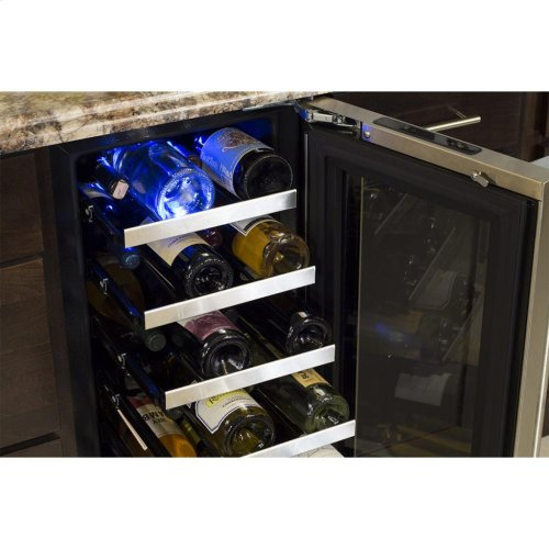 "15"" High Efficiency Single Zone Wine Cellar - Panel-Ready Framed Glass Door with Lock - Integrated Right Hinge (handle not included)*"