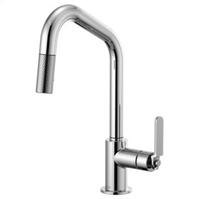 Pull-down Faucet With Angled Spout and Industrial Handle