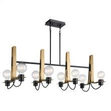 Arvella Collection Arvela 8 Light Linear Chandelier BK