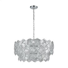 Lavique 5-Light Pendant in Polished Chrome with Clear Crystal