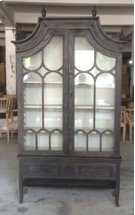 Reims Cathedral Black Arched Cabinet Product Image