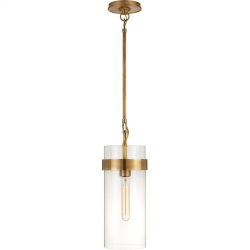 Visual Comfort S5673HAB-CG Ian K. Fowler Presidio 1 Light 7 inch Hand-Rubbed Antique Brass Pendant Ceiling Light, Small