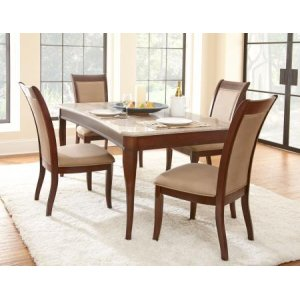 Steve Silver Co.Marseille 5 Piece Marble Set(Table & 4 Side Chairs)