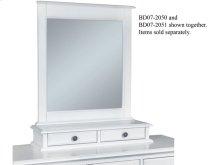 Mirror Base w/ 2-Drawers in Beach White