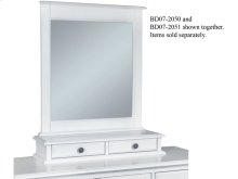 Mirror Base w/ 2-Drawers in Beach White