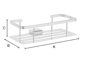 Additional Soap Basket Straight 1 Level PS374