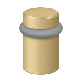 """Round Universal Floor Bumper 2"""", Solid Brass - Brushed Brass"""