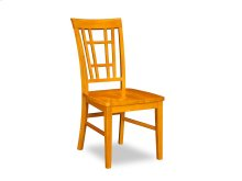 Montego Bay Dining Chairs Set of 2 with Wood Seat in Caramel Latte